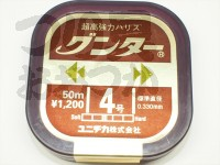 ユニチカ グンター - 50m巻 カモフラージュブラウン 4号