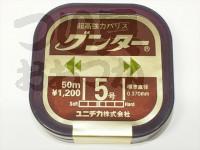 ユニチカ グンター - 50m巻 カモフラージュブラウン 5号