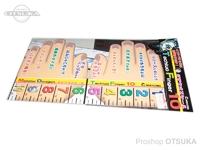 ナカジマ タチウオフィンガー - 10ハンド  タチウオ専用スケール(マジックテープ付き)