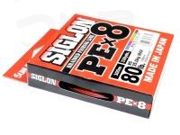 サンライン シグロン -  PE×8 #5色(1色10m) 5.0号 80lb 300m