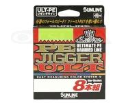 サンライン ソルティメイト PEジガーULT - 8本組 #10m5色 12lb(0.8号) 300m