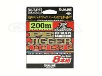 サンライン ソルティメイト PEジガーULT - 8本組 #10m5色 25lb(1.5号) 300m