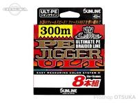 サンライン ソルティメイト PEジガーULT - 8本組 #10m5色 35lb(2.0号) 600m
