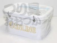 サンライン エサバケツⅢ - SB452 #ホワイト 145×105×80cm サイズL