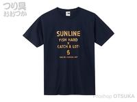 サンライン コットンTシャツ - SUW-15013T #ネイビー L
