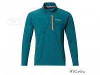 シマノ ハーフジップシャツ(長袖) - SH-071P #グリニッシュ サイズ L
