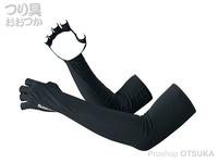 シマノ サンプロテクション グローブ - GL-047Q #ブラック L ロング