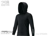 シマノ ロングスリーブフーディシャツ - IN-062Q #ブラック M