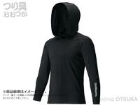 シマノ ロングスリーブフーディシャツ - IN-062Q #ブラック L