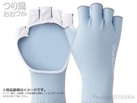 シマノ サンプロテクション グローブ - GL-048Q #アイスブルー M