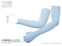 シマノ サンプロテクション グローブ - GL-047Q # アイスブルー Mサイズ ロング