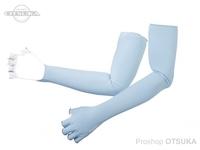 シマノ サンプロテクション グローブ - GL-047Q # アイスブルー Lサイズ ロング