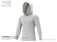 シマノ ロングスリーブフーディシャツ - IN-062Q #クールグレー L