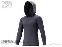 シマノ ロングスリーブフーディシャツ - IN-062Q #チャコール Mサイズ