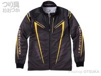 シマノ リミテッドプロ フルジップシャツ(長袖) - SH-011S # ブラック/イエロー XLサイズ