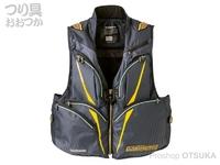 シマノ リミテッドプロ 2WAYベスト - VE-011S # イエロー 2XLサイズ