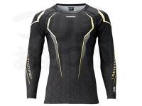 シマノ サンプロテクションクール ロングスリーブシャツ リミテッドプロ - IN-071R #リミテッドブラック Sサイズ