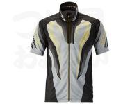 シマノ ウィックテックス-度フルジップリミテッドプロシャツ(半袖) - SH-012R #ブラック Lサイズ