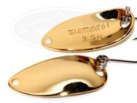 シマノ カーディフエリアスプーン -  ロールスイマー 2.5g #74T フルゴールド 2.5g プレミアムメッキ