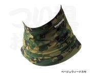 シマノ サンプロテクションネッククール - AC-064Q #ベージュウィードカモ フリー