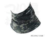 シマノ サンプロテクションネッククール - AC-064Q #ブラックウィードカモ フリー