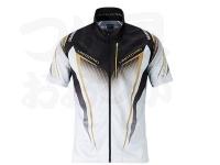 シマノ リミテッドプロ フルジップシャツ(長袖) - SH-011S #ホワイト サイズM