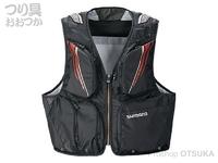 シマノ 2WAYショートベスト - VE-022T # ブラック Mサイズ