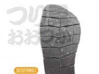 シマノ ジオロック・3Dカットピンフェルトソールキット - KT-026L #ダークグレー Lサイズ 中丸