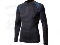 おたふく手袋 ボディアンドタフネス - BTアウトラスト ロングスリーブクルーネックシャツ JW-540 ブラック/ブルー サイズL胸囲96-104 身長175-185cm