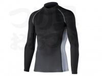 おたふく手袋 ボディアンドタフネス - 冷感消臭パワーストレッチ 長袖ハイネックシャツ JW-625 ブラック LLサイズ 胸囲104-112 身長175-185cm