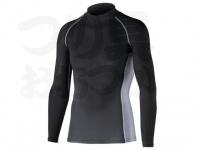 おたふく手袋 ボディアンドタフネス - 冷感消臭パワーストレッチ 長袖ハイネックシャツ JW-625 ブラック Mサイズ 胸囲88-96 身長165-175cm