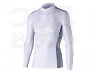おたふく手袋 ボディアンドタフネス - 冷感消臭パワーストレッチ 長袖ハイネックシャツ JW-625 ホワイト LLサイズ 胸囲104-112 身長175-185cm