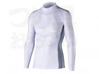 おたふく手袋 ボディアンドタフネス - 冷感消臭パワーストレッチ 長袖ハイネックシャツ JW-625 ホワイト Lサイズ 胸囲96-104 身長175-185cm