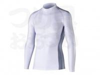 おたふく手袋 ボディアンドタフネス - 冷感消臭パワーストレッチ 長袖ハイネックシャツ JW-625 ホワイト Mサイズ 胸囲88-96 身長165-175cm