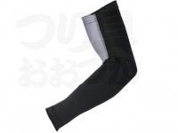 おたふく手袋 ボディアンドタフネス - 冷感消臭パワーストレッチ アームカバーメッシュ JW-619 ブラック/グレー フリーサイズ 1ペア入り