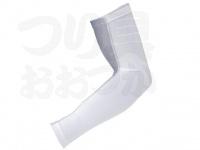 おたふく手袋 ボディアンドタフネス - 冷感消臭パワーストレッチ アームカバーメッシュ JW-619 ホワイト/グレー フリーサイズ 1ペア入り