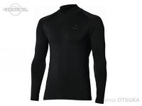 おたふく手袋 ボディタフネス - BTパワーストレッチサーモデオ ハイネックシャツ #ブラック M