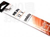 がまかつ 鯉鈎 - 糸付  茶 鈎12号-ハリス3号45cm