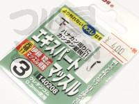 カツイチ エキスパートマッスル - - 鈎色:シルバー 3号 ウレタンゴム0.3mm使用
