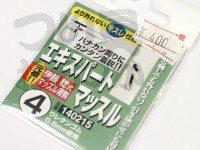 カツイチ エキスパートマッスル - - 鈎色:シルバー 4号 ウレタンゴム0.5mm使用