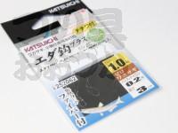 カツイチ エダ鈎プラス - ED-ZC #クリアグリーン ハリ1.0 ハリス・ナイロン0.2号 長さ3cm