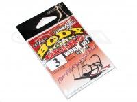 デコイ ワームフック - ワーム 107 ボディーガード - サイズ#3 極細ワイヤーガード