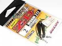 デコイ ワームフック - ゼロダン ワーム217 ブラック #2 3.5g