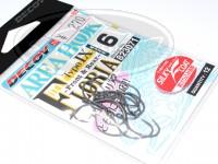デコイ シングルフック - デコイ エリアフック タイプⅨ フロリア #シルキーブラック サイズ#6 フッ素メッキ加工採用
