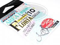 デコイ シングルフック - デコイ エリアフック タイプⅨ フロリア #シルキーブラック サイズ#10 フッ素メッキ加工採用