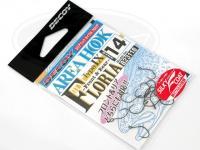 デコイ シングルフック - デコイ エリアフック タイプⅨ フロリア #シルキーブラック サイズ#14 フッ素メッキ加工採用