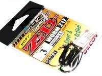 デコイ ワームフック - ゼロダン ワーム217 ブラック #3 2.5g