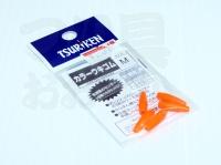 釣研 カラーウキゴム -  M オレンジ サイズ M