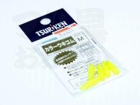 釣研 カラーウキゴム -  M イエロー サイズ M