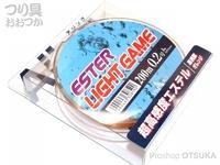 山豊テグス エステルライトゲーム - 200m巻 #蛍光オレンジ 0.2号 1lb